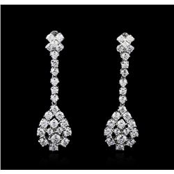 14KT White Gold 2.61ctw Diamond Earrings