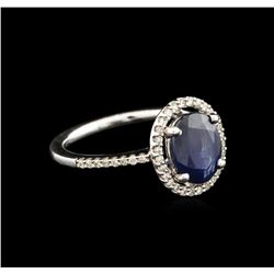 2.70ct Sapphire and Diamond Ring - 14KT White Gold