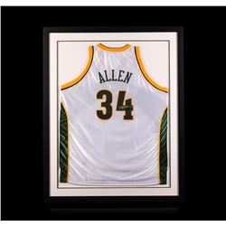 Ray Allen Framed Autographed Jersey