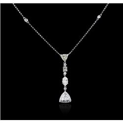14KT White Gold 1.78ctw Diamond Necklace