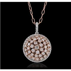 14KT Two-Tone 4.74ctw Diamond Pendant With Chain