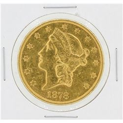 1878-S $20 Liberty Head Double Eagle Gold Coin