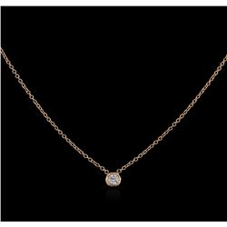 14KT Rose Gold 0.09ct Diamond Solitaire Necklace