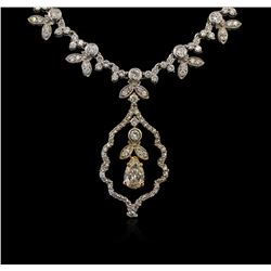 3.48ctw Diamond Necklace - 14KT White and Rose Gold