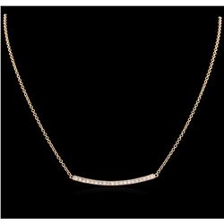 0.84ctw Diamond Necklace - 14KT Rose Gold