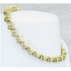 Jose Hess 2.53ctw Diamond Bracelet - 18KT Yellow Gold