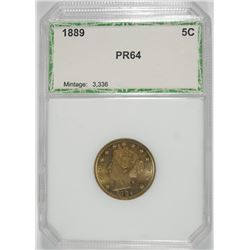 1889 LIBERTY NICKEL PCI GEM PROOF