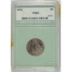 1912 LIBERTY NICKEL NTC GEM PROOF