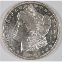 1889 PROOF MORGAN SILVER  DOLLAR CLEANED  MINTAGE OF ONLY 811