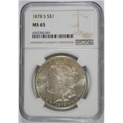 1878-S MORGAN DOLLAR NGC MS-65