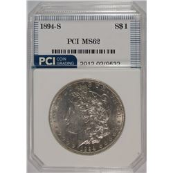1894-S MORGAN DOLLAR PCI BU