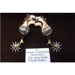 Beurman and North and Judd- Marked with a Star and an Anchor.  Hercules Bronze Horsehead Spurs.