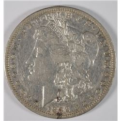 1892-S MORGAN SILVER DOLLAR, XF/AU LUSTRE  SEMI-KEY