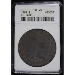 1795 FLOWING HAIR DOLLAR, ANACS VF-20  OLD HOLDER