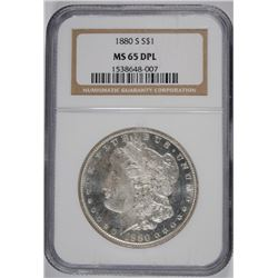 1880-S MORGAN SILVER DOLLAR, NGC MS-65 DPL  GORGEOUS!