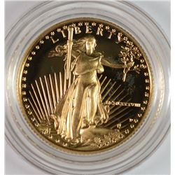 1988 $10.00 PROOF AMERICAN GOLD EAGLE  1/4 OUNCE GOLD COIN IN BOX WITH CERT.