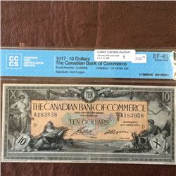 The Canadian Bank of Commerce; 10 dollars note 1917; CCCS EF-45, CH# 75-16-04-12b, serial A183958 Ai