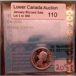 10 cents 1964; CCCS MS-63 Heavy Cameo.