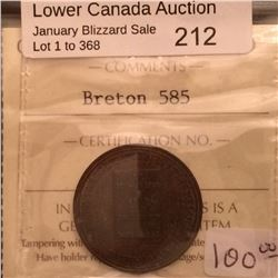 Breton 585; ICCS MS-60. Trace Red Le Medaillier token.