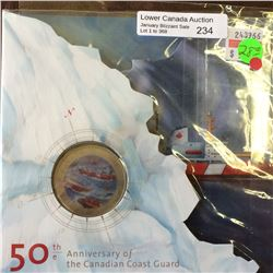 RCM Product: 25 cents 2012 50th Anniversary of Canadian Coast Guard.