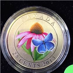 RCM Product: 25 cents 2013 Purple Coneflower and Eastern Tailed Blue.