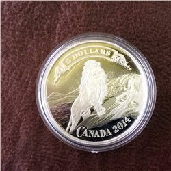 RCM Product: 5 dollars 2014 Canadian Banknotes Series Lion on the Mountain Vignette.