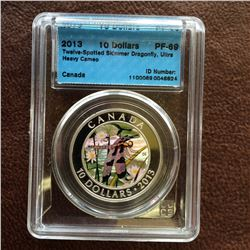 RCM Product: 10 dollars 2013 Twelve Spotted Skimmer Dragonfly; CCCS PF-69 Ultra Heavy Cameo in Hard