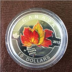 RCM Product: 10 dollars 2013 O Canada Series Maple Leaf with color.