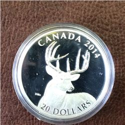 RCM Product: 20 dollars 2014 White Tailed Deer Collection - Portrait.