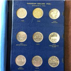 Nickel dollar collection in a Whitman book; 1968 to 1984 all Uncirculated or from Uncirculated sets.