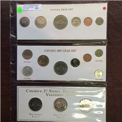 Canada complete 3 different 1968 year set. To be viewed.