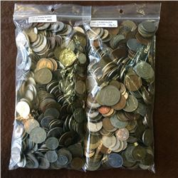 10 pounds of mixed world coins.