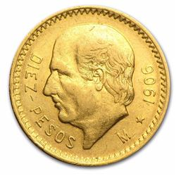 1906 Mexico Gold 10 Pesos .2411 oz of gold. Over 100 Year Gold Coin
