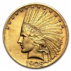 $10 Indian Gold Eagle (Minted between 1907-1933)