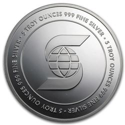 5 oz Scotiabank .999 Silver Round