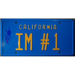 Will Ferrell Signed Replica License Tag from 'Anchorman'