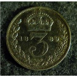 1889 Great Britain 3 Pence