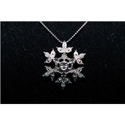 Designer Necklace - 'Snowflake' design - Silver Necklace