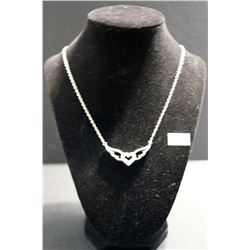 Diamond Heart/Wing Necklace