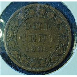 1888 - Canada Large One Cent -Victoria