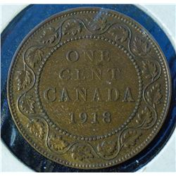 1918 - Canada Large One Cent - George V
