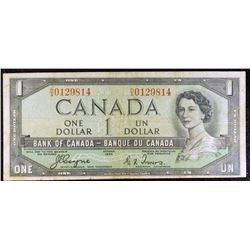1954 - BC29a - $1 Dollar Devils Face bank note