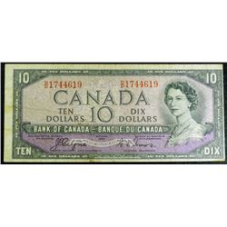 1954 - BC32a - $10 Dollar Devils Face bank note