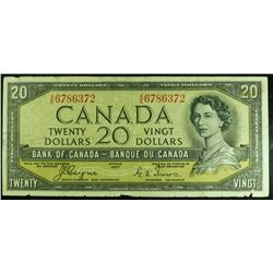1954 - BC33a - $20 Dollar Devils Face bank note