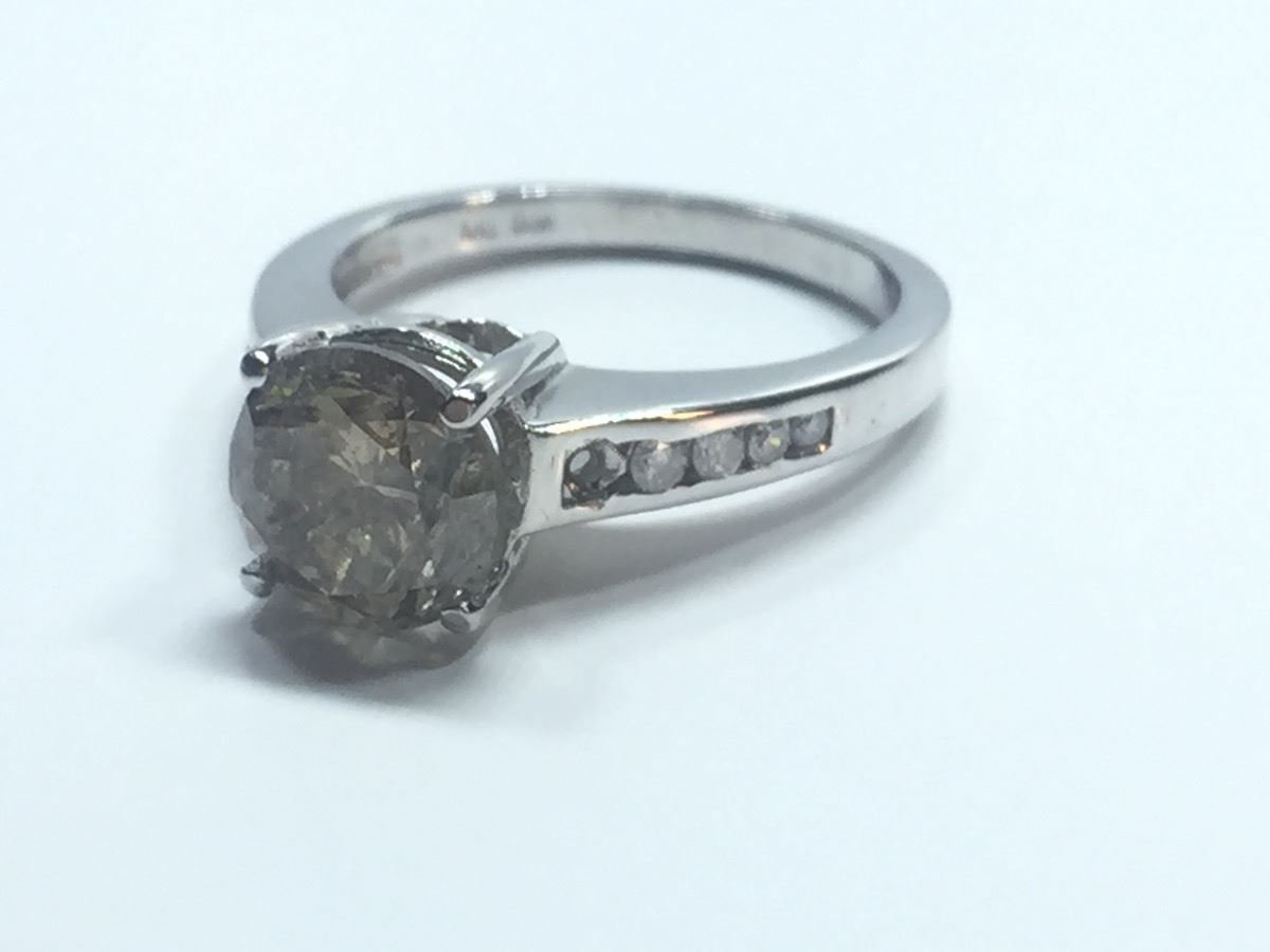 14k Gold Champagne 2 40 Ct Diamond Ring With 10 0 30 Ct