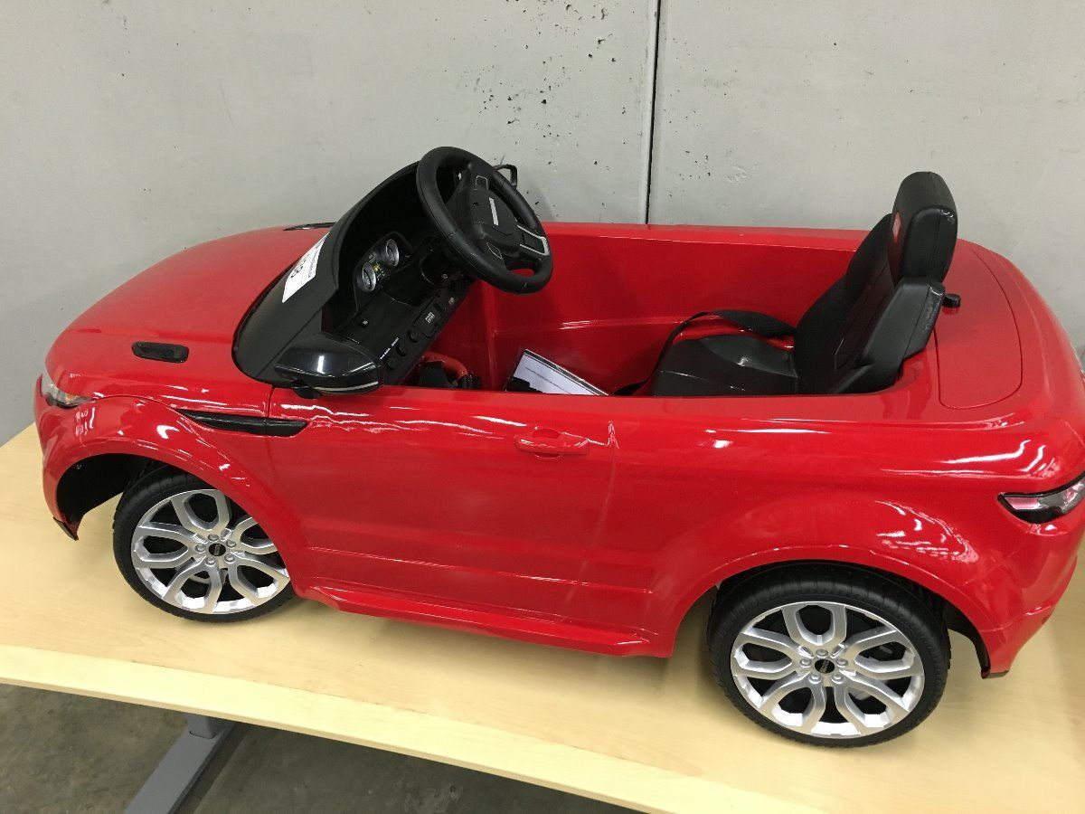 red range rover evoque ride in remote control cars with working lights sounds and pedals. Black Bedroom Furniture Sets. Home Design Ideas