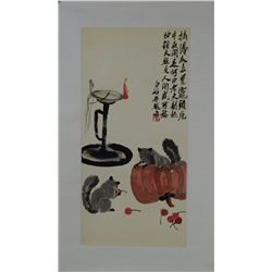 Painting Squirrels Style of Qi Baishi 1864-1957