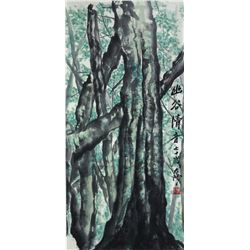 WC Tree Painting Paper Roll Yang Taiyang 1909-2009