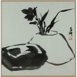 Chinese WC Painting Framed Wang Xuetao 1903-1982