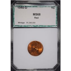 1940-D LINCOLN CENT PCI SUPERB GEM BU RED